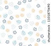 seamless pattern yellow sun and ... | Shutterstock .eps vector #1101875690