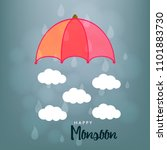 happy monsoon season design ... | Shutterstock .eps vector #1101883730