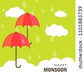 happy monsoon season design ... | Shutterstock .eps vector #1101883739