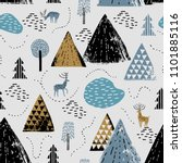seamless pattern with a... | Shutterstock .eps vector #1101885116
