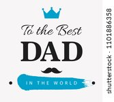 happy father's day vector... | Shutterstock .eps vector #1101886358