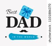 happy father's day vector... | Shutterstock .eps vector #1101886370