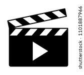movie clapperboard or film... | Shutterstock .eps vector #1101887966
