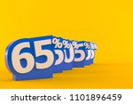 numbers with percent isolated...   Shutterstock . vector #1101896459