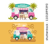 beach juice bar with drinks and ... | Shutterstock .eps vector #1101899393