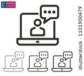 e learning line icon. editable... | Shutterstock .eps vector #1101900479