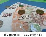 czech koruna banknotes and... | Shutterstock . vector #1101904454