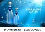 sparkling water with clear... | Shutterstock .eps vector #1101909098