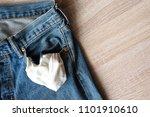 close up jeans front pocket  ... | Shutterstock . vector #1101910610
