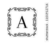vintage frame with letter.... | Shutterstock .eps vector #1101912716