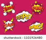 set comic speach bubble with... | Shutterstock .eps vector #1101926480