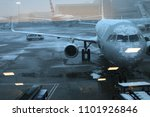 a view from airport window.   Shutterstock . vector #1101926846