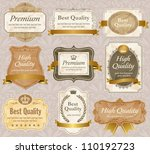 high quality   premium labels... | Shutterstock .eps vector #110192723