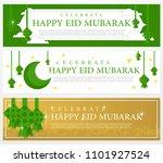 set of eid mubarak banner... | Shutterstock .eps vector #1101927524