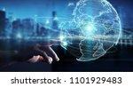 businessman on blurred... | Shutterstock . vector #1101929483