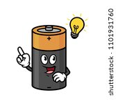 cartoon battery character with... | Shutterstock .eps vector #1101931760