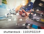 internet of things  iot ... | Shutterstock . vector #1101932219