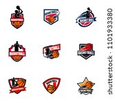 set of basketball club logo ...   Shutterstock .eps vector #1101933380
