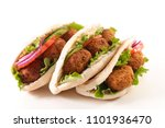 pita bread with vegetable and... | Shutterstock . vector #1101936470