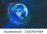big data concept. cyberspace... | Shutterstock . vector #1101937469