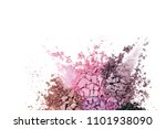 eye shadow set isolated on white | Shutterstock . vector #1101938090