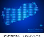 pixel mosaic glow blue dot map...