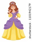 beautiful fairy princess in a... | Shutterstock .eps vector #1101942179