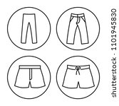icons set of male wear  clothes ... | Shutterstock .eps vector #1101945830