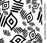 black and white seamless ethnic ... | Shutterstock .eps vector #1101947093