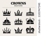 set of crowns. flat...