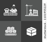 industrial vector icon set | Shutterstock .eps vector #1101955229