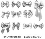 set of grey and silver... | Shutterstock .eps vector #1101956780