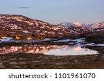 sunset in a norwegian village | Shutterstock . vector #1101961070