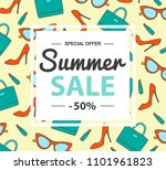 summer sale banner template.... | Shutterstock .eps vector #1101961823