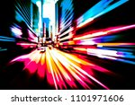 abstract motion blur city... | Shutterstock . vector #1101971606