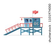 Lifeguard Tower On The Beach....