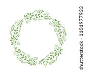 vector decorative wreath with... | Shutterstock .eps vector #1101977933
