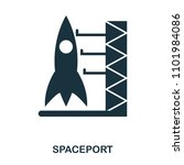 spaceport icon. flat style icon ...