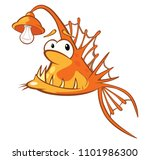 illustration of a monk fish....   Shutterstock . vector #1101986300