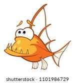 illustration of a monk fish....   Shutterstock . vector #1101986729