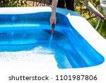 little boy filling filling...   Shutterstock . vector #1101987806