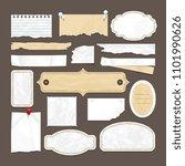 retro scrapbooking collection... | Shutterstock . vector #1101990626