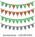 american football bunting flags ...   Shutterstock .eps vector #1101991493