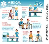 healthcare infographics with... | Shutterstock . vector #1101991583
