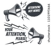 attention please symbols with... | Shutterstock . vector #1101995666