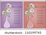two icons with poppies in a vase | Shutterstock .eps vector #110199743