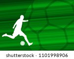soccer player silhouette on the ... | Shutterstock .eps vector #1101998906