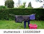 good weather for hanging... | Shutterstock . vector #1102002869