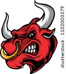 illustration with a bull angry...   Shutterstock .eps vector #1102003379