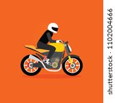 man riding naked motorcycle ... | Shutterstock .eps vector #1102004666